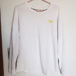 Pink gold sequin sweater shirt